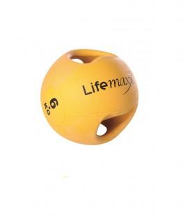 LMX1250.6 GIALLA 6kg - PALLA MEDICA CON MANIGLIE